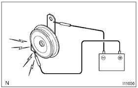 toyota corolla repair manual inspection procedure horn relay