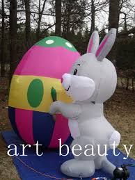 new 6 u0027 giant easter bunny rabbit painting egg airblown inflatabl