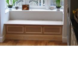 Under Window Storage by Interior Small Window Seat Design With White Theme Designed With