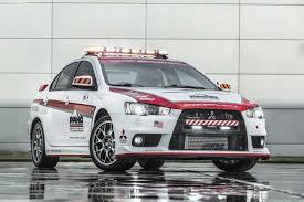 new mitsubishi evo new mitsubishi outlander and mitsubishi lancer evo x safety car 4