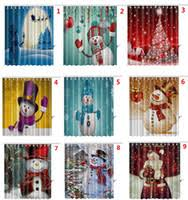 Santa Curtains Christmas Bathroom Shower Curtains Price Comparison Buy Cheapest