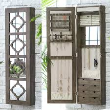 Makeup Vanity Jewelry Armoire Jewelry Armoire Vanity This Wall Mounted Storage Organizer With