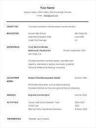resume templates for college students free resumes for college students with no experience