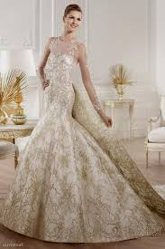 gold wedding dress white and gold wedding dresses with lace naf dresses