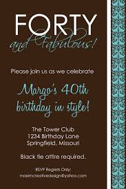 Printable Birthday Party Invitation Cards Birthday Invites Chic 40th Birthday Party Invitations Design