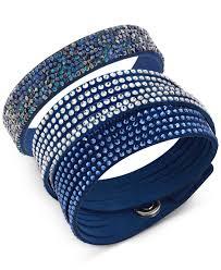 blue crystal bracelet swarovski images Lyst swarovski slake crystal rock bracelet set in blue jpeg