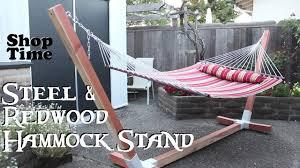 Vintage Redwood Patio Furniture - steel u0026 redwood hammock stand youtube