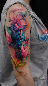 image result for butterfly tattoo with background arm pieces