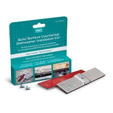 smart countertop shop smart choice universal dishwasher mounting kit countertop
