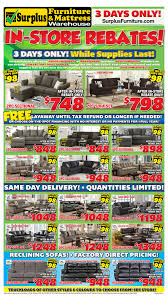 kitchener surplus furniture surplus furniture mattress warehouse kitchener flyer january 30