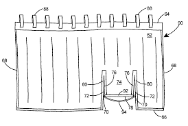 patent us7761935 shower curtain with flap for use with tub