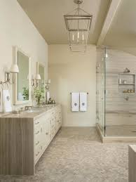 photos hgtv neutral spa bathroom with mosaic tile floor idolza