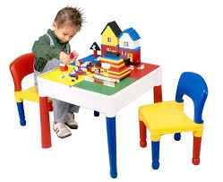 2 In 1 Activity Table Childrens Activity Table And 2 Chairs Lego Duplo Board Water