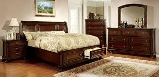 King Size Bedroom Sets With Storage Northville Dark Cherry Platform Storage Bedroom Set From Furniture