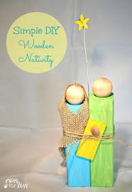 Homemade Christmas Presents by Homemade Christmas Gifts Wooden Nativity Craft Mess For Less
