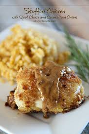goat cheese stuffed chicken with caramelized onions