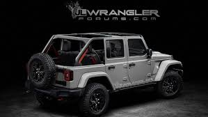 all black jeep leak reveals 2018 jeep wrangler will get power top and all wheel