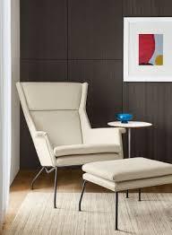 Room And Board Leather Sofa Aidan Chair U0026 Ottoman In Sorrento Leather Modern Accent U0026 Lounge