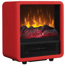 duraflame red cube electric fireplace stove cfs 300 red
