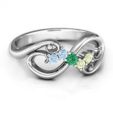 mothers infinity ring flourish infinity s ring with gemstones infinity rings