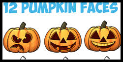 how to draw pumpkins u0026 how to draw jack o lanterns drawing