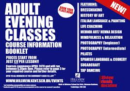 book now new evening courses hillview tonbridge kent uk