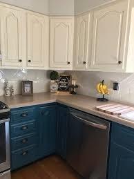 blue chalk paint kitchen cabinets pin by renee dickerson on kitchen ideas modern kitchen