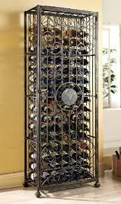 amazon com wine enthusiast 96 bottle antiqued steel wine jail