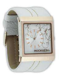 Mercedes White Rose Gold Watch Rockwell Time