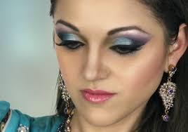 asian bridal makeup turquoise u0026 purple smokey eye tutorial