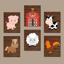 Farm Animal Nursery Decor Farm Animals Wall Canvas Or Prints Farm Nursery Decor