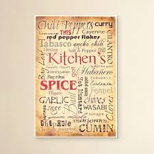 furniture handsome kitchen and spice textual art plaque small