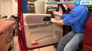 how to install replace remove front door panel chevy trailblazer