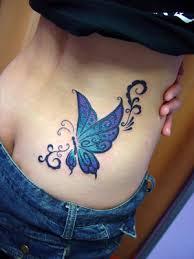 beautiful butterfly on lower back tattooshunt com