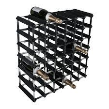 42 bottle traditional wooden wine rack 6x6