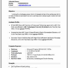 resume format for engineering freshers pdf exceptional latest resume format for freshers mba pdf simple in
