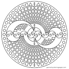 easy geometric coloring pages sutrek simple geometric designs