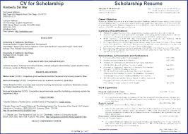 scholarship resume exle college scholarship resume exles