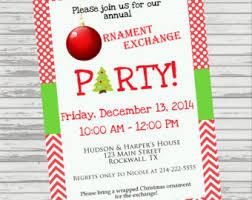6 best photos of ornament exchange invitations