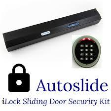 Automatic Patio Door Opener Ilock Automatic Patio Door Opener Security Kit Black Colored Finish