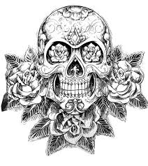 free coloring page coloring tatouage skull skeleton magnificient