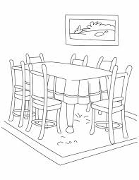 Kids Coloring Table Dinning Table Coloring Pages Download Free Dinning Table