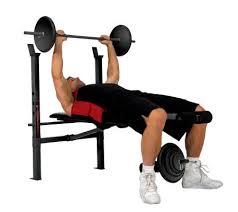 Weight Bench With Bar - weight bench with 100 lb weight set u2014 qvc com