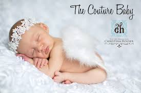baby newborn white feather wings the couture baby child
