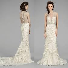 deco wedding dress lazaro wedding dresses 2014 fall collection modwedding