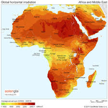africa map deserts annual solar irradiance