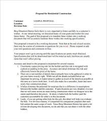 sample of construction proposal construction proposal template 10