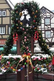 German Wooden Easter Decorations by Easter In Germany