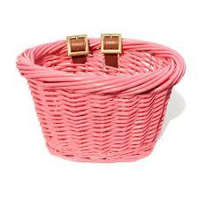 baskets for kids ev01525 kids front handlebar wicker bike basket pink wicker baskets