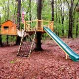Backyard Zip Line Without Trees by Custom Tree House Accessories Options For Kids Tree Houses Tree